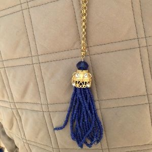 Long tassel necklace , 24 inches